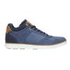 Knöchelhohe Sneakers aus Leder bata, Blau, 846-9641 - 15