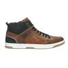 Knöchelhohe Sneakers aus Leder bata, Braun, 846-3640 - 15