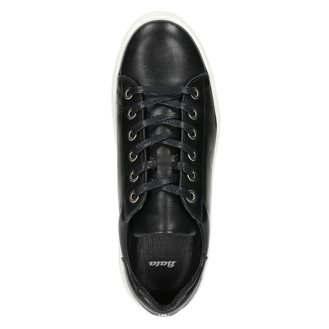 Leder-Sneakers mit markanter Sohle bata, Schwarz, 526-6641 - 26
