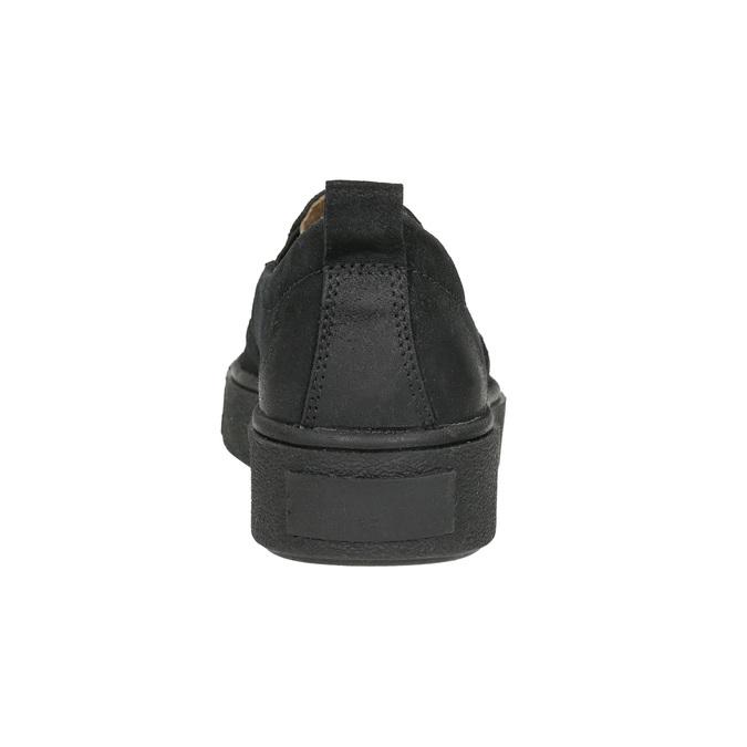Damen-Slip-Ons aus Leder bata, Schwarz, 516-6613 - 17