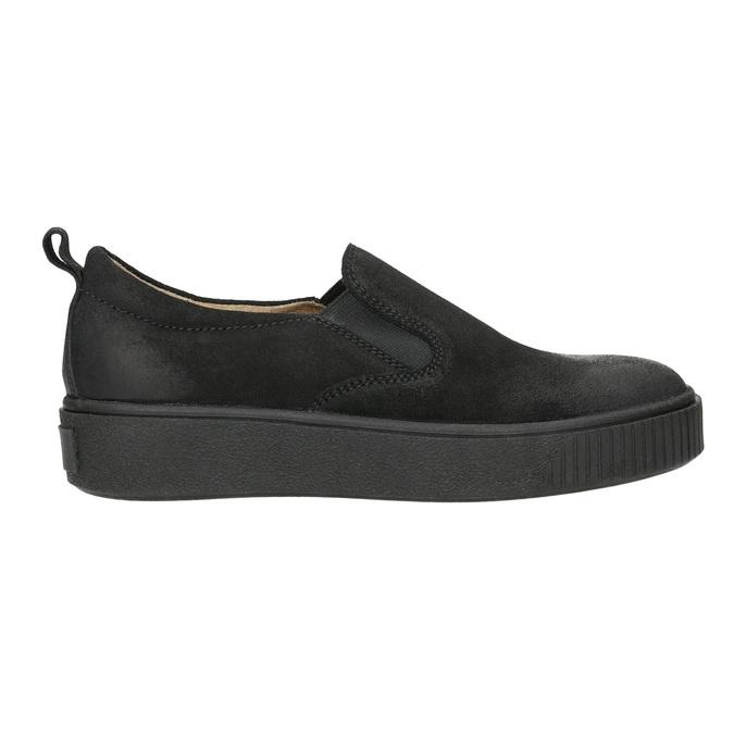 Damen-Slip-Ons aus Leder bata, Schwarz, 516-6613 - 15