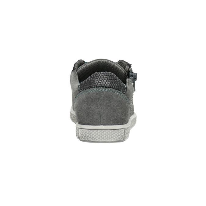 Kinder-Sneakers aus Leder mit Zwecken mini-b, Grau, 323-2173 - 17