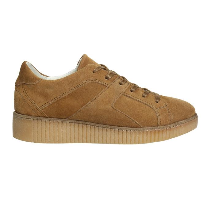 Braune Leder-Sneakers bata, Braun, 523-8604 - 15