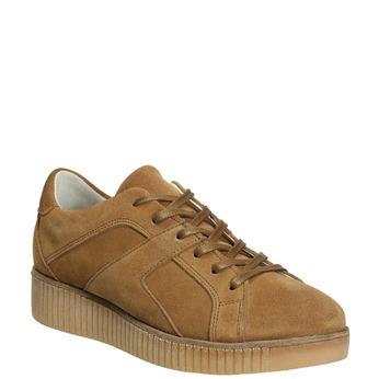 Braune Leder-Sneakers bata, Braun, 523-8604 - 13