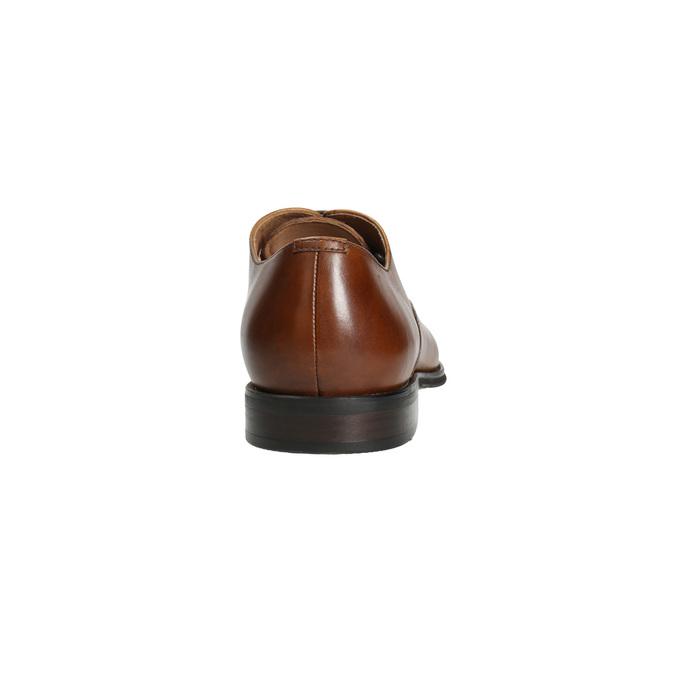 Lederhalbschuhe im Oxford-Stil mit Verzierung bata, Braun, 826-3690 - 17