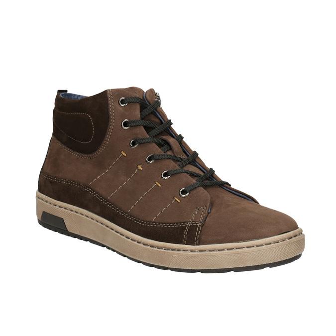 Knöchelhohe Herren-Sneakers bata, Braun, 846-4651 - 13