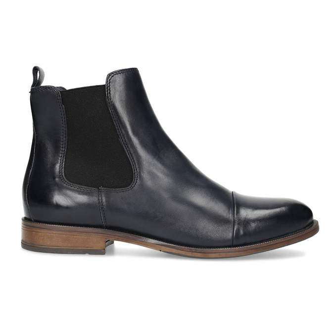 Damen-Chelsea-Boots aus Leder bata, Schwarz, 594-9636 - 19