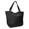 Schwarze Handtasche mit Zwecken, Schwarz, 961-6787 - 13