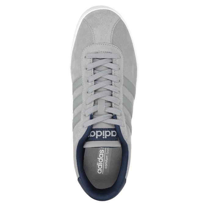 Graue Leder-Sneakers adidas, Grau, 803-7197 - 15