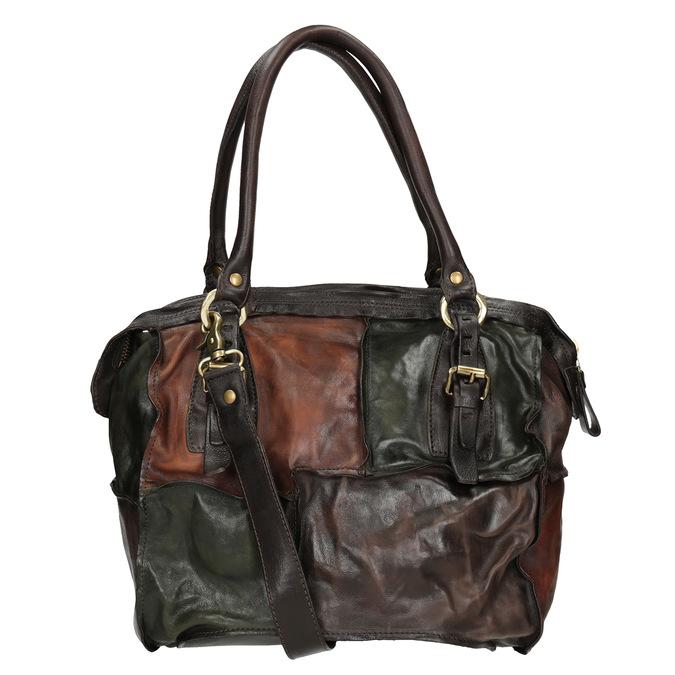 Lederhandtasche im Patchwork-Stil a-s-98, mehrfarbe, 966-0062 - 16