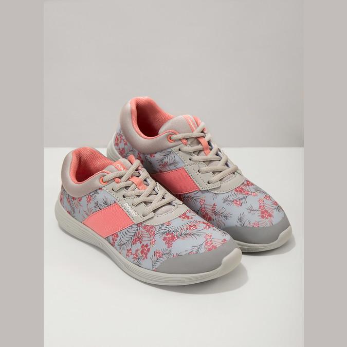 Sneakers mit Blumenmuster power, Grau, 509-2203 - 18