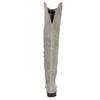 Graue Overknee-Stiefel aus Leder bata, Grau, 593-2605 - 17