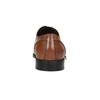 Braune Lederhalbschuhe im Derby-Look bata, Braun, 826-3646 - 16