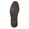 Herren-Lederhalbschuhe mit Steppung bata, Braun, 826-4610 - 19