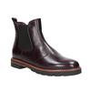 Weinrote Chelsea Boots aus Leder bata, Rot, 596-5657 - 13