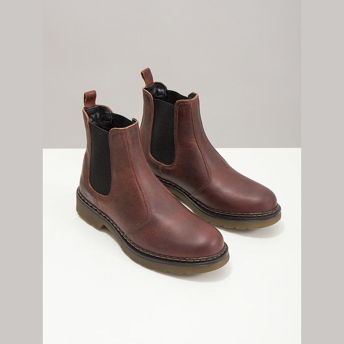 Damen-Chelsea-Boots aus Leder bata, Braun, 596-3680 - 18