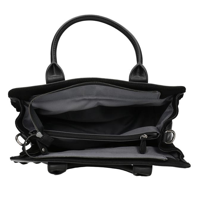 Damenhandtasche aus Leder fredsbruder, Schwarz, 963-6002 - 15