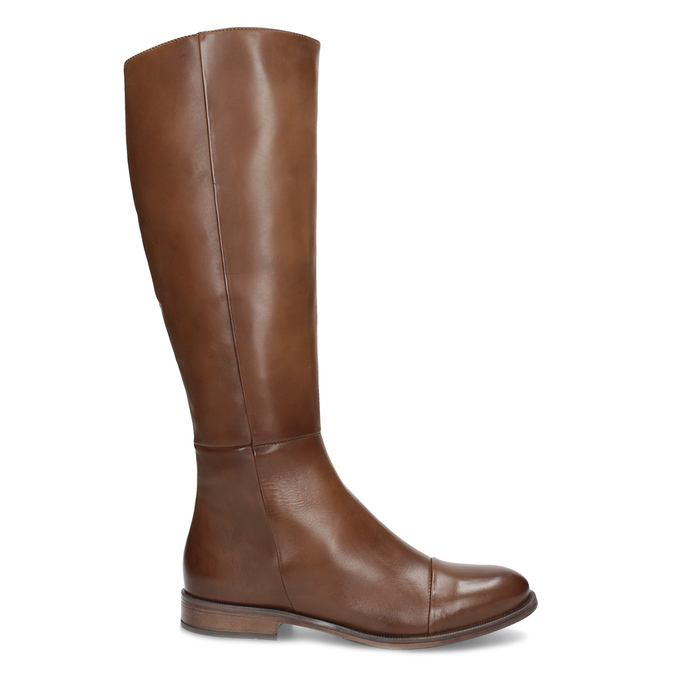 Braune Lederstiefel bata, Braun, 594-4637 - 19
