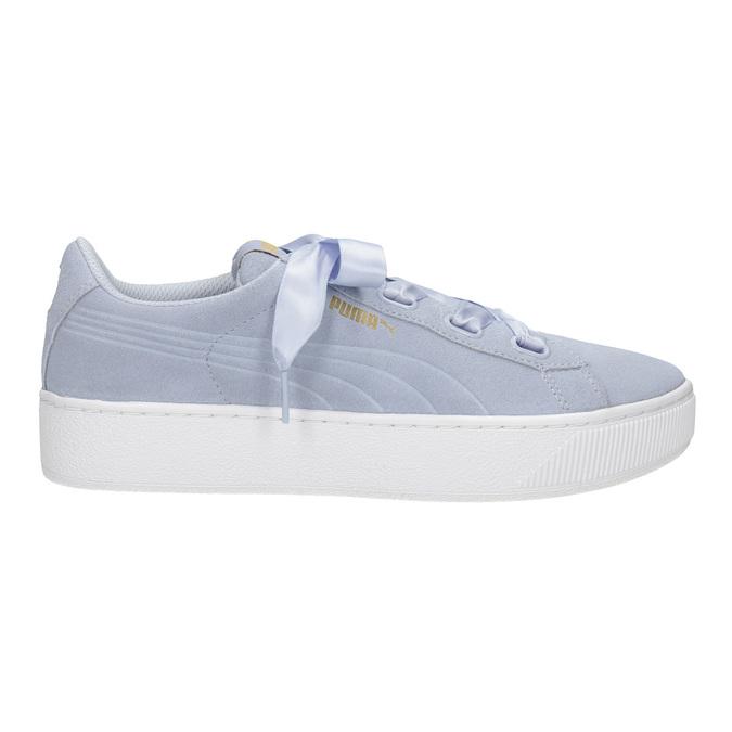 Damen-Sneakers aus Leder puma, Blau, 503-9169 - 26