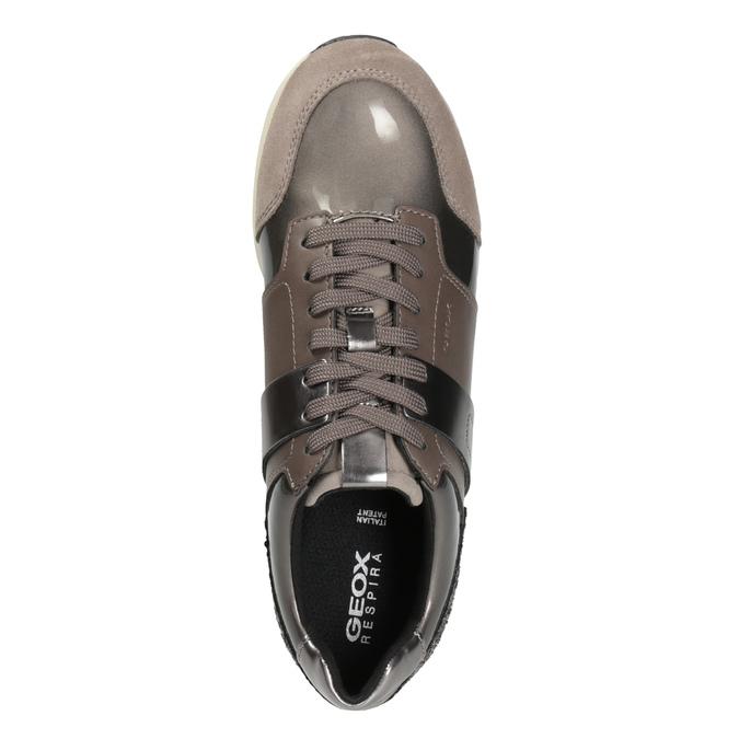 Sneakers mit Glitzereffekt geox, Braun, 621-8045 - 15