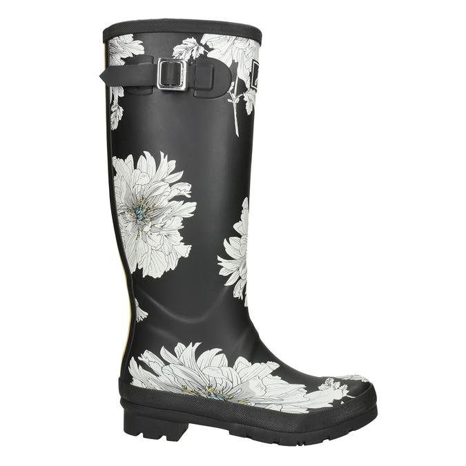 Schwarze Stiefel mit Blumenmuster joules, Schwarz, 502-6043 - 26