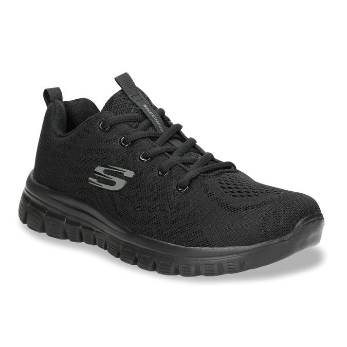 Schwarze, sportliche Damen-Sneakers mit Perforation skechers, Schwarz, 509-6318 - 13