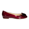 Ballerinas aus Leder hogl, Rot, 528-5072 - 26