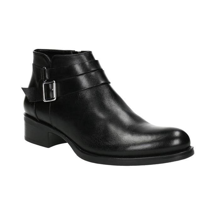 Knöchelschuhe aus Leder mit einer Schnalle bata, Schwarz, 594-6655 - 13