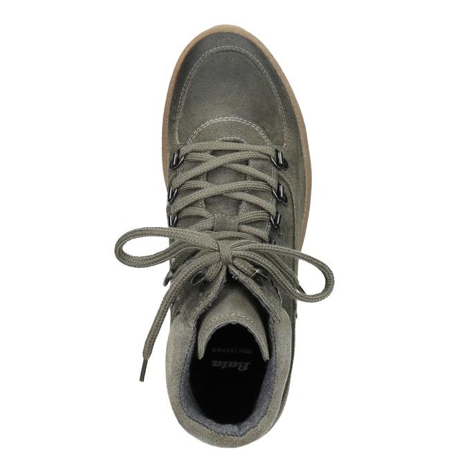 Damen-Flatform-Schuhe aus Leder bata, Grau, 596-2673 - 15