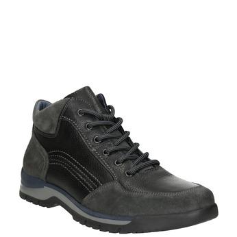 Legere Sneakers aus Leder bata, Schwarz, 896-6705 - 13