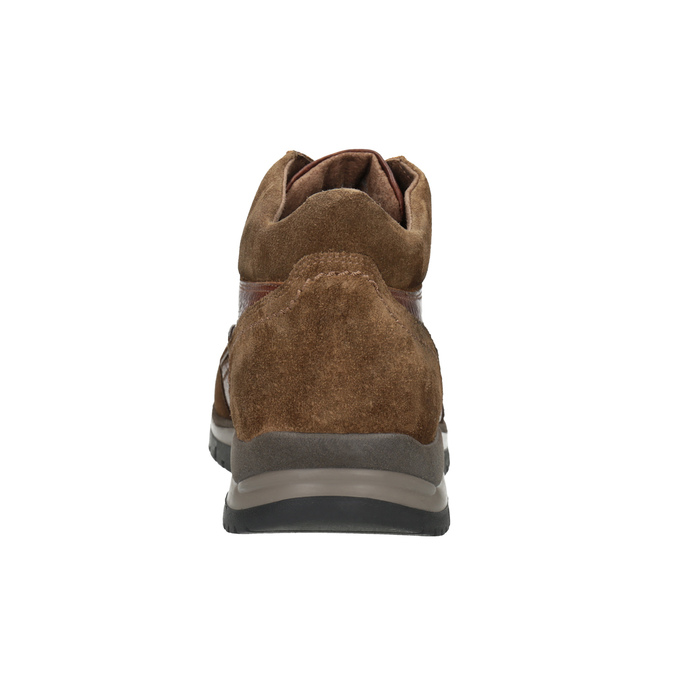 Herren-Knöchelschuhe aus Leder bata, Braun, 896-3705 - 16