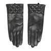Schwarze Damenhandschuhe aus Leder bata, Schwarz, 904-6131 - 26