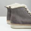 Knöchelhohe Leder-Sneakers mit Kunstpelz weinbrenner, Grau, 596-2627 - 14