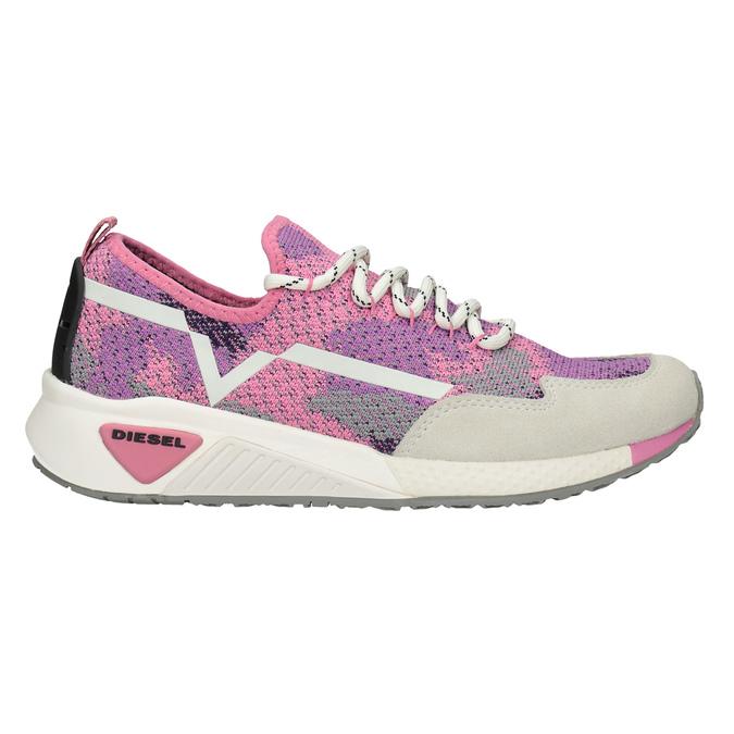 Sportliche, rosa Sneakers diesel, Rosa, 509-5760 - 16