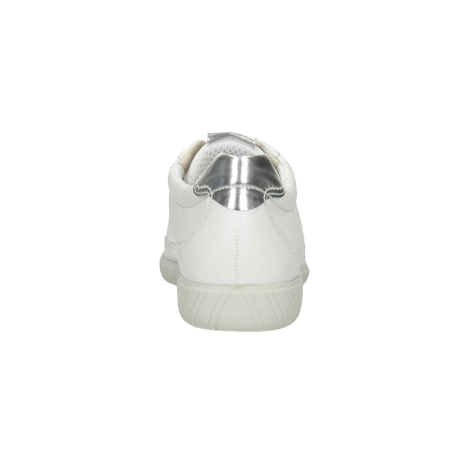 Weisse Sneakers aus Leder gabor, Weiss, 626-1204 - 16