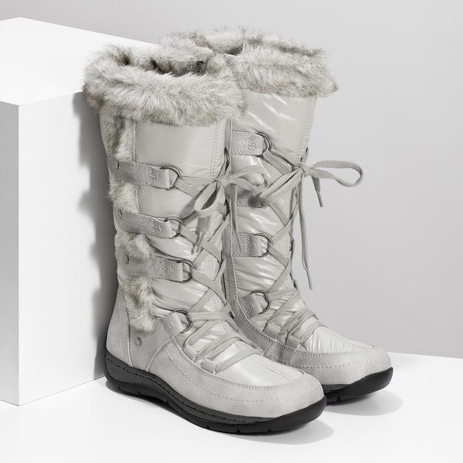 Schneestiefel mit Fell bata, Grau, 599-8618 - 26