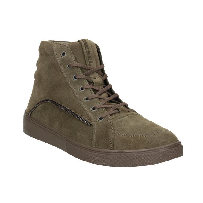Knöchelhohe Sneakers aus geschliffenem Leder diesel, Braun, 803-4629 - 13