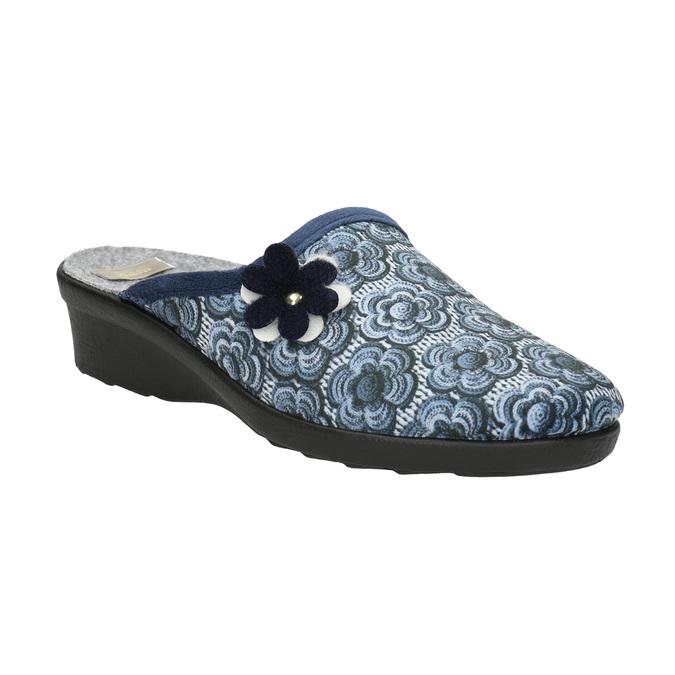 Damen-Hausschuhe bata, Blau, 579-9623 - 13