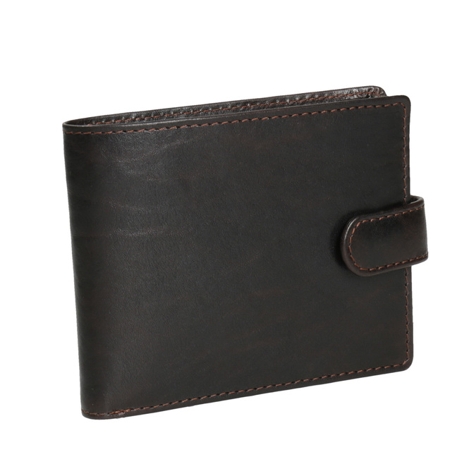 Herren-Geldbörse aus Leder bata, Braun, 944-4202 - 13