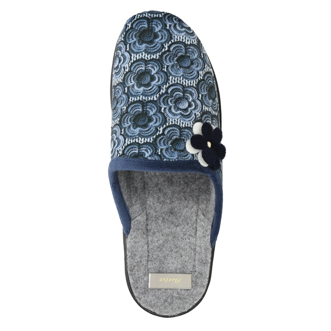 Damen-Hausschuhe bata, Blau, 579-9623 - 26