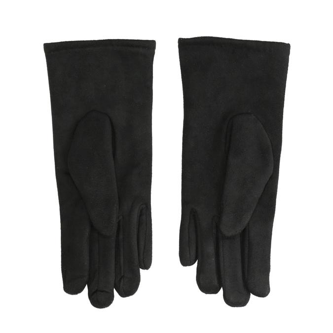 Damenhandschuhe aus Textil, Schwarz, 909-6612 - 16