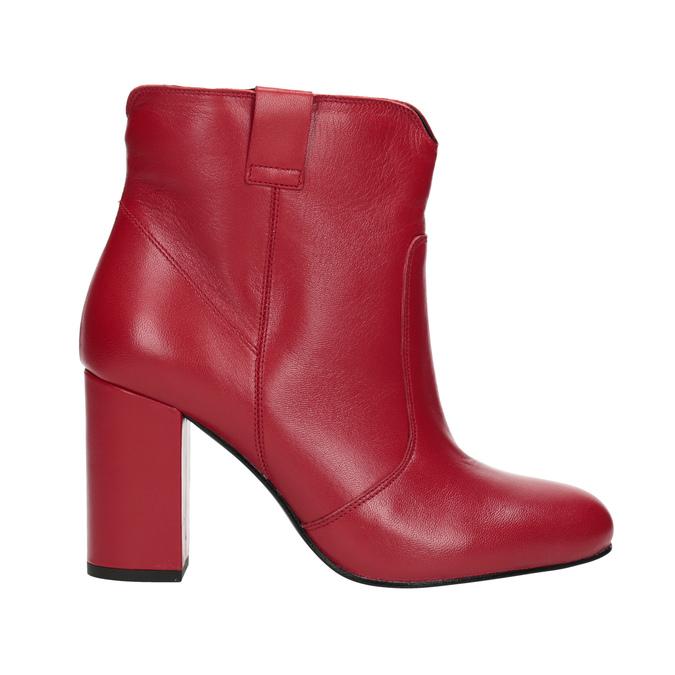 Rote Stiefeletten aus Leder bata, Rot, 794-5652 - 16