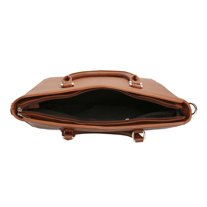 Braune Handtasche mit abnehmbarem Gurt bata, Braun, 961-3845 - 15