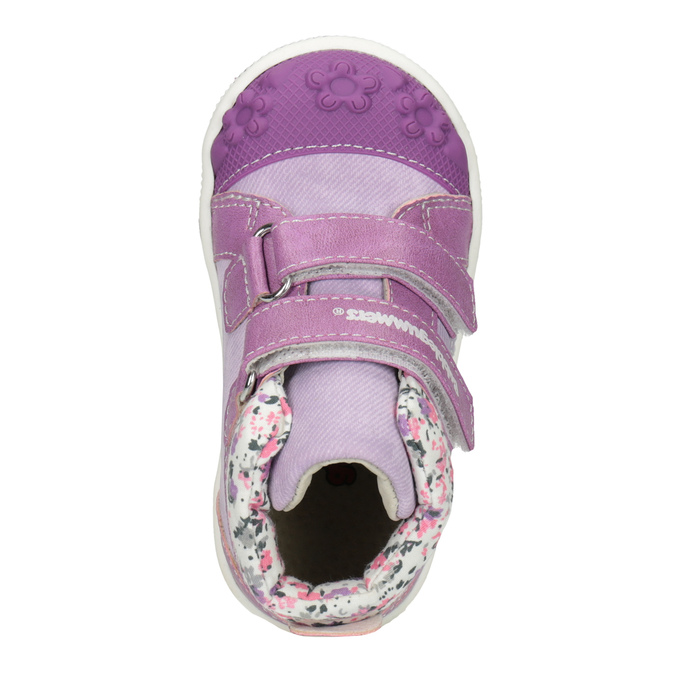 Knöchelhohe, gemusterte Kinder-Sneakers bubblegummer, Violett, 121-9618 - 15