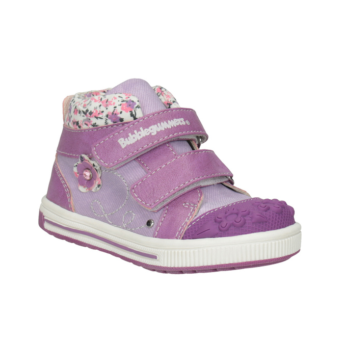 Knöchelhohe, gemusterte Kinder-Sneakers bubblegummer, Violett, 121-9618 - 13