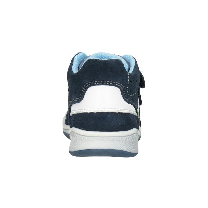 Kinder-Knöchelschuhe aus Leder bubblegummer, Blau, 113-9603 - 16