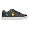 Schwarze Sneakers mit Aufnähern north-star, Schwarz, 541-9602 - 26