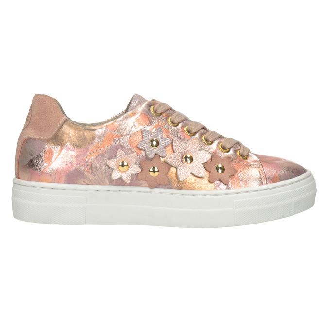 Mädchen-Sneakers aus Leder mit Blümchen mini-b, 326-5606 - 16