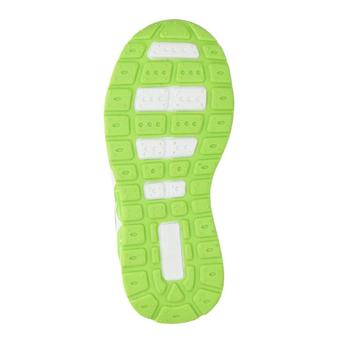 Grüne Kinder-Sneakers mit blinkender Sohle mini-b, Grau, 211-2102 - 17
