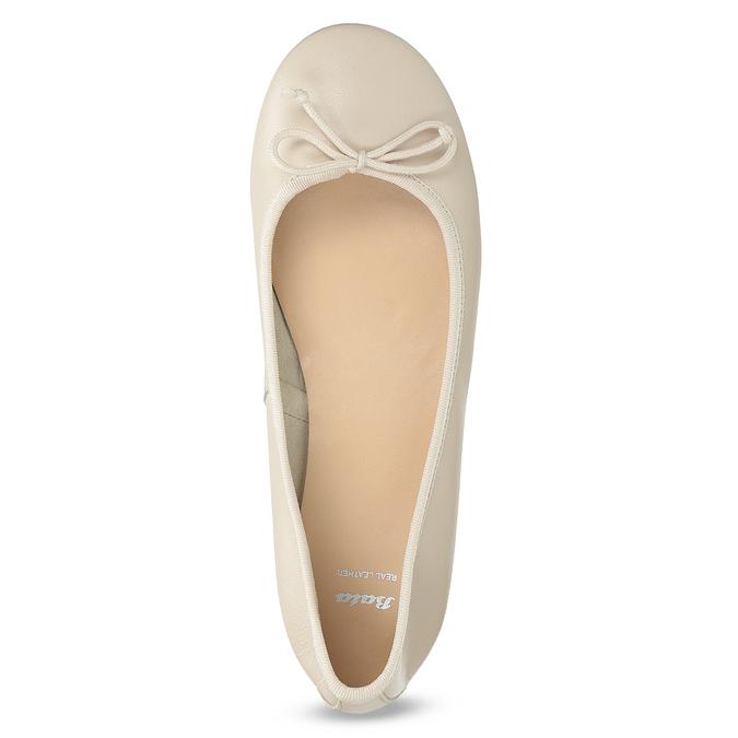 Leder-Ballerinas bata, Beige, 524-8144 - 17
